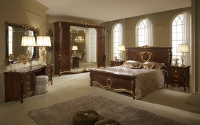 Картинка стиль, комната, вилла, интерьер, спальня