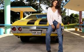 Картинка машина, модель, джинсы, автомобиль, Chevrolet Nova, Chevrolet Chevy II