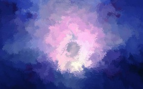 Картинка цвета, синий, сиреневый, розовый, штрихи, мазки