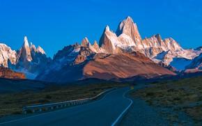 Картинка дорога, горы, Аргентина, Санта-Крус