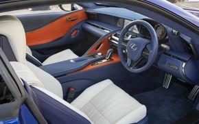 Картинка Lexus, салон, 500, 2018, Limited Edition, LC 500, Morphic Blue
