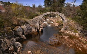 Обои мост, природа, река, ручей, Шотландия