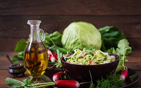 Картинка овощи, капуста, салат, редис