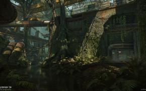 Картинка трубы, река, объект, East River, Crysis 3 MP