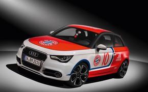 Обои logo, wallpaper, sport, car, football, Audi A1, FC Bayern Munchen
