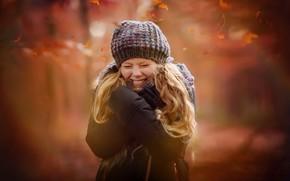 Картинка осень, портрет, девочка