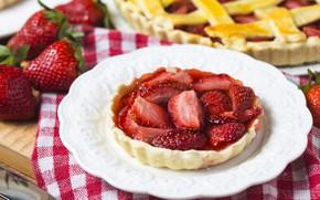 Картинка ягоды, клубника, пирог, fresh, cake, sweet, strawberry, berries