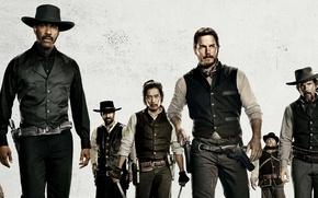 Обои боевик, The Magnificent Seven, Великолепная Семерка, вестерн, персонажи, актеры