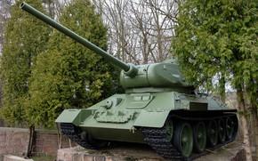 Картинка Т-34-85, советский средний танк, тридцатьчетвёрка