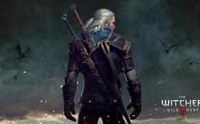 Обои доспехи, Ведьмак, Witcher 3: Wild Hunt, 10 из 10, игра, Геральт, мечи