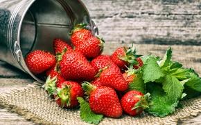 Картинка лето, свежесть, ягоды, клубника