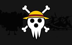 Картинка skull, game, One Piece, pirate, anime, crossover, Soul Eater, manga, bones, shinigami, Luffy, Monkey D. …