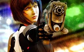Картинка взгляд, лицо, оружие, The Gunner