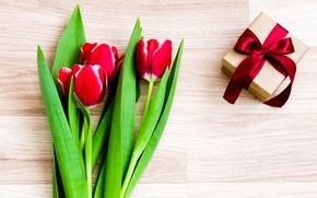 Картинка цветы, тюльпаны, red, love, romantic, tulips, gift, красные тюльпаны