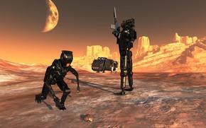 Картинка оружие, планета, жук, роботы, Bug Hunt