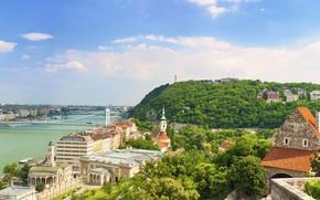 Обои Budapest, my planet, Будапешт, красивый вид, travel, wallpaper., боке, размытость, река Дунай, панорамный вид, мост ...