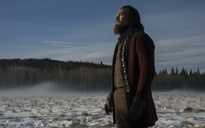 Обои фильм, актер, the revenant, leonardo dicaprio, леонардо дикаприо, выживший, снег, snow