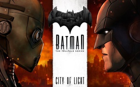 Картинка city, game, Batman, man, bat, hero, Bruce Wayne, yuusha, Gotham, drone, Batman: The Telltale Series