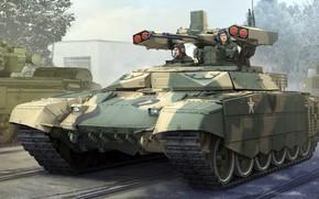 Обои боевая машина огневой поддержки, Уралвагонзавод, выполненная на базе шасси танка Т-72, БМПТ-72, БМОП, Терминатор-2