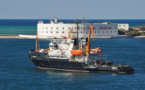 Обои Шахтер, морской, буксир, спасатель, Севастополь, Черное море, вспомогательный, флот