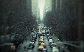Картинка дорога, город, движение, автомобили, Трафик