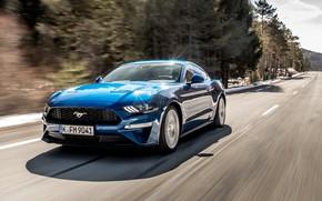 Картинка скорость, Mustang, Ford, Fastback, 2018, Ecoboost