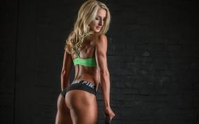 Обои ass, blonde, butt, fitness body