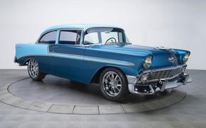 Обои купе, 1956, Bel Air, ретро, Chevrolet