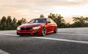 Картинка BMW, RED, Vossen, F80