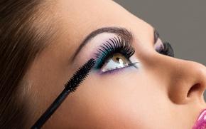 Картинка woman, eyes, eyelashes, Makeup
