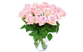 Картинка розы, love, pink, flowers, romantic, roses, розовые розы