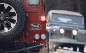 Картинка красный, фары, внедорожник, Land Rover, 2018, Defender, корма, V8, Defender Works V8, юбилейная спецсерия