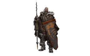 Картинка оружие, воин, копье, щит