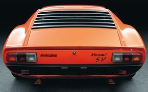 Картинка Авто, Lamborghini, Машина, Оранжевый, 1971, Апельсин, Автомобиль, Ламборгини, Supercar, Lamborghini Miura, P400, SVJ, Габаритки, Lamborghini …