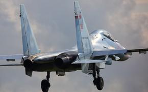 Картинка истребитель, аэродром, ввс россии, Су-30СМ