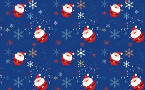 Картинка новый год, санта клаус, дед мороз, снежинка