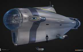 Картинка транспорт, аппарат, Subnautica