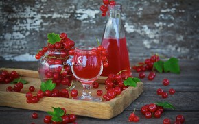 Обои сок, красная смородина, напиток, ягоды, смородина