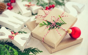 Картинка Новый Год, Рождество, merry christmas, decoration, gifts, xmas, holiday celebration