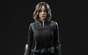 Обои girl, spy, brunette, agent, uniform, seifuku, Chloe Bennet, tv series, SHIELD, Daisy Johnson, Agent Of ...