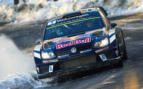 Картинка Авто, Volkswagen, Машина, Скорость, Фары, WRC, Rally, Ралли, Polo, Предок