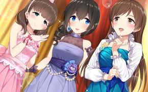 Картинка idolmaster cinderella girls, sakuma mayu, sagisawa fumika, nitta minami