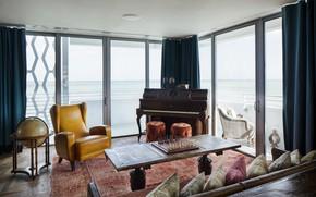 Картинка интерьер, жилая комната, Soho Beach House