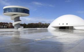 Картинка архитектура, Испания, Авилес, Культурный центр Оскара Нимейера