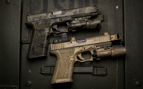 Обои фон, пистолеты, пара, оружие
