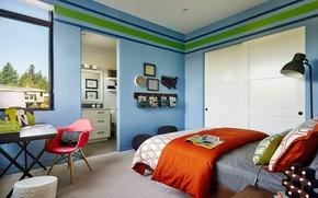 Обои спальня, Sandhill Crane, интерьер, комната