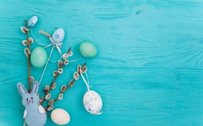 Картинка ветки, яйца, весна, Пасха, wood, верба, blue, spring, Easter, eggs, decoration, Happy, tender