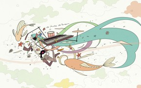 Картинка девушка, волосы, аниме, белый фон, Hatsune Miku, Vocaloid, Вокалоид, Хатсуне Мику