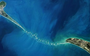 Картинка острова, Индия, отмель, Шри-Ланка, фото NASA, Адамов Мост