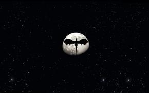 Картинка moon, game, night, wings, stars, dragon, ARK Survival Evolved